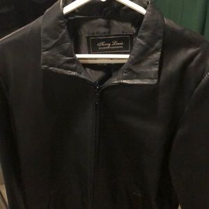 Terry Lewis black leather jacket